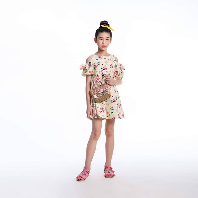 Áo đầm bé gái-Floral Garden Off-Should
