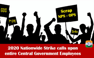 13 lakhs Central Government Employees participated in the nationwide one day strike on 8th January 2020