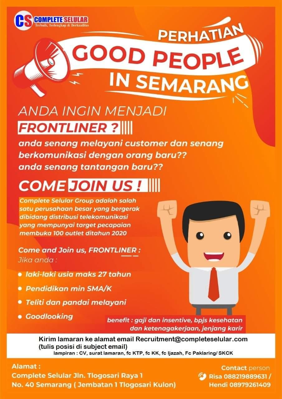 Complete Selluer Semarang Membuka Lowongan Sebagai Frontliner