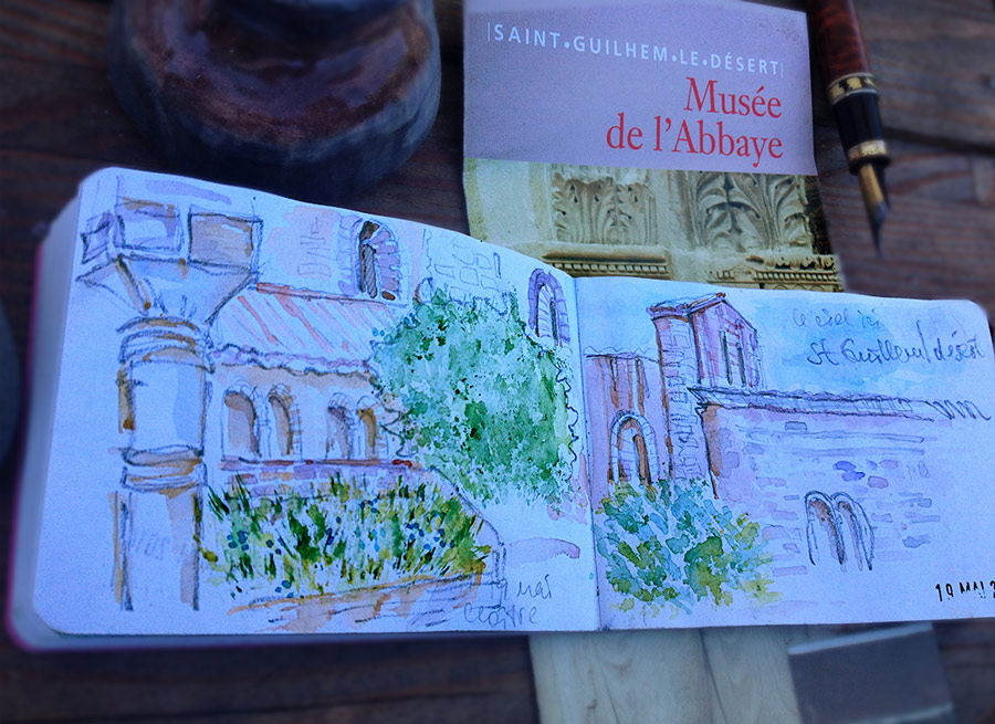 Saint-Guilhem-le-Désert, Watercolor Sketchbook