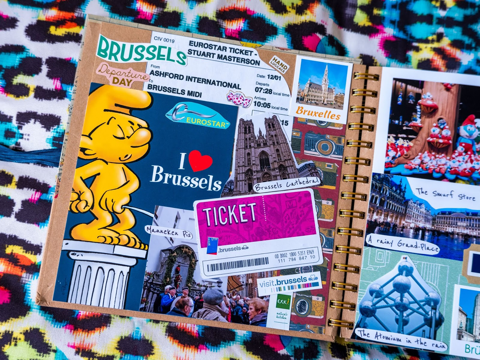Brussels, Belgium pages in my 2019 travel scrapbooks