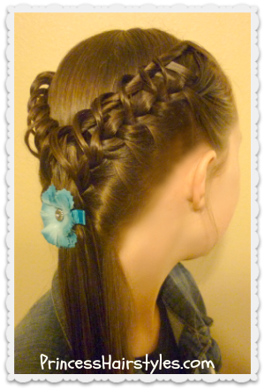 braided hairstyle video tutorial, the hook and ladder braid