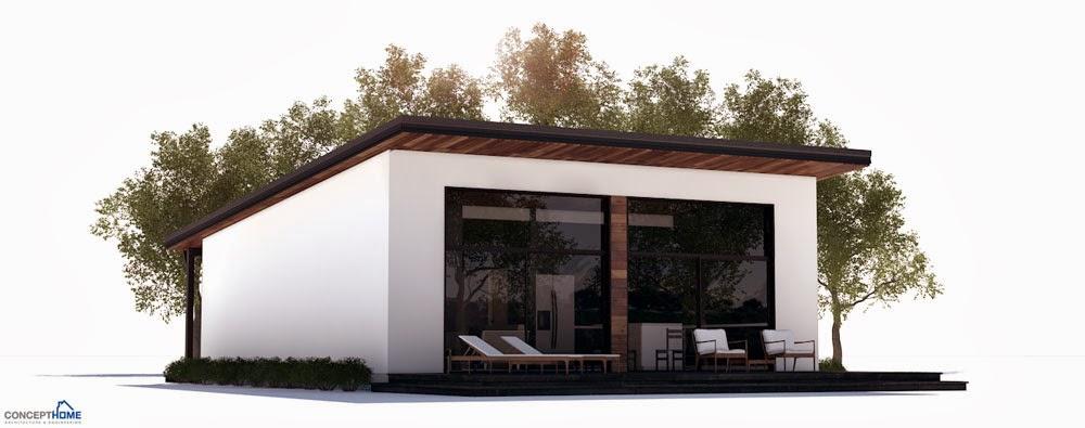 Tiny Beach Home Designs: CH265 Small Beach House Plan