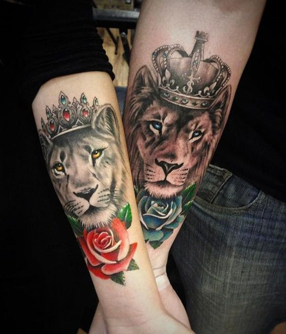 16 best ideas of king and queen tattoos