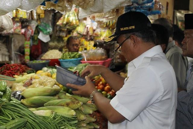 Harga Sembako Melambung, Walikota Sidak Pasar Tradisional