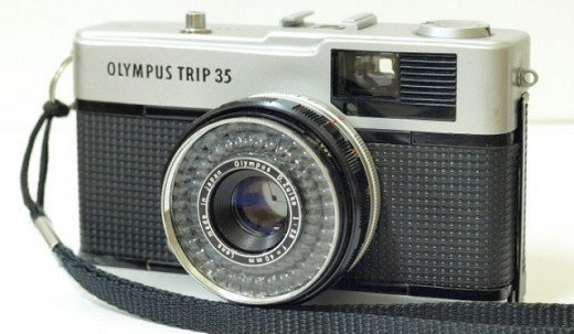 Olympus Trip 35, Top front