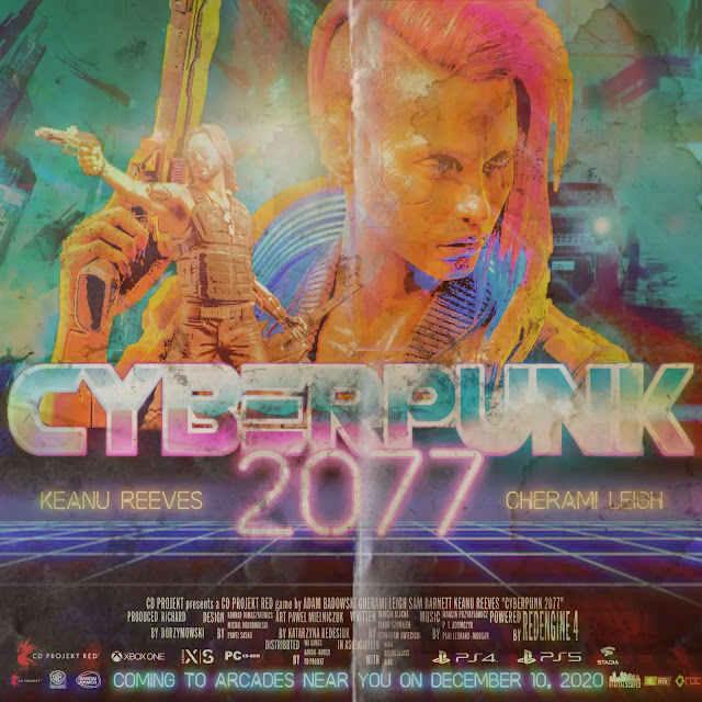 Poster Cyberpunk 2077 Retro