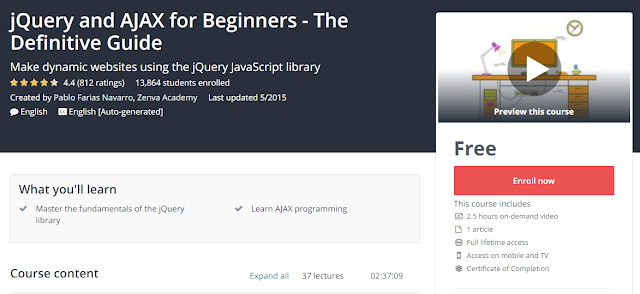 jQuery and AJAX for Beginners - The Definitive Guide