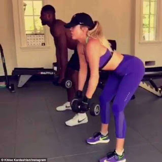 Khloe Kardashian and Tristan Thompson workout