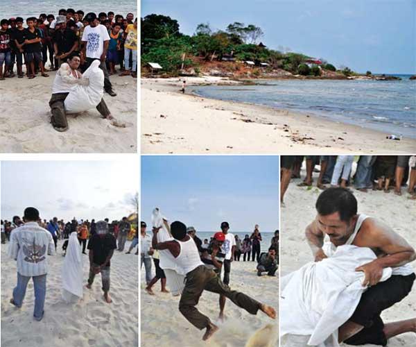 Antu Bubu di Pantai Lalang Belitung
