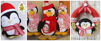 pinguinos-navideños