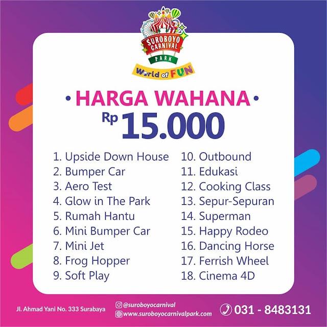 Harga Tiket Masuk Wahana Rp 15.000 Suroboyo Carnival Park