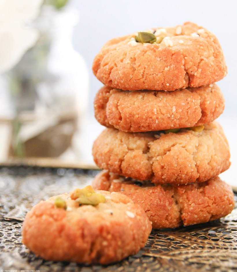 glutenfree almond tahini cookies