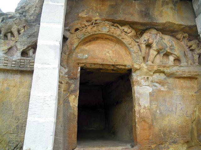 The Chota Hathi Gumpha (Small Elephant Cave), Udayagiri, Bhubaneshwar