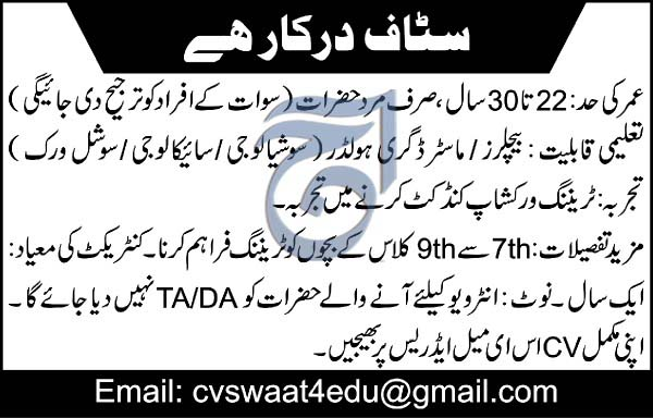 Latest Private Jobs in Swat March 2019