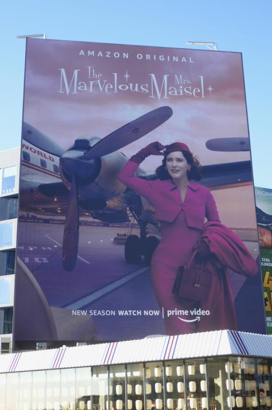 Marvelous Mrs Maisel season 3 giant billboard
