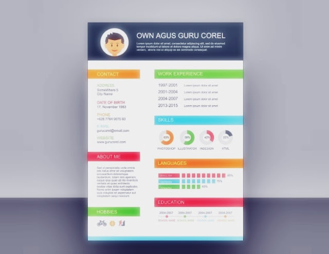 Download CV cdr full color