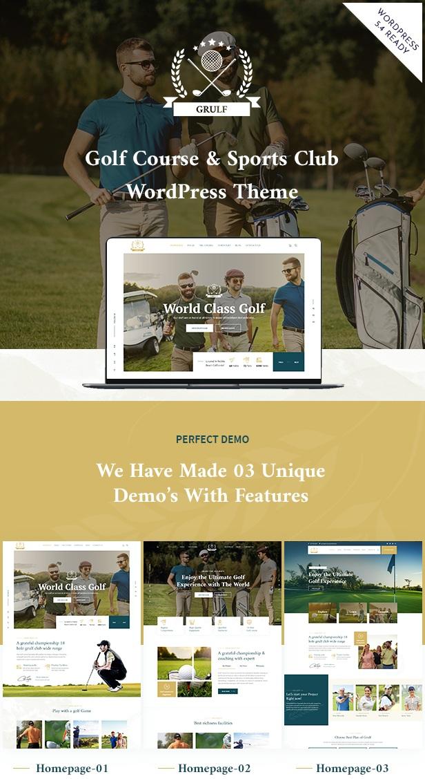 Sports Club WordPress Theme