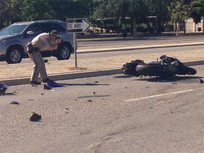 oildale kern county motorcycle crash hit and run airport drive