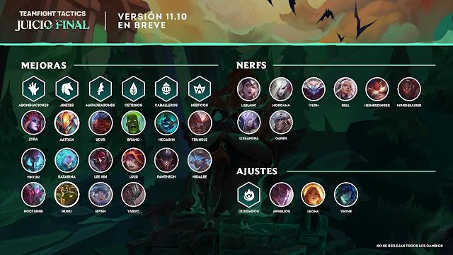 Éstas son las novedades de la versión 11.10 de Teamfight Tactics