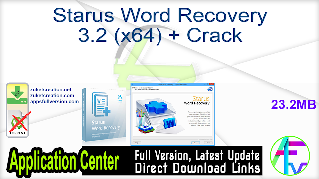 Starus Word Recovery 3.2 (x64) + Crack