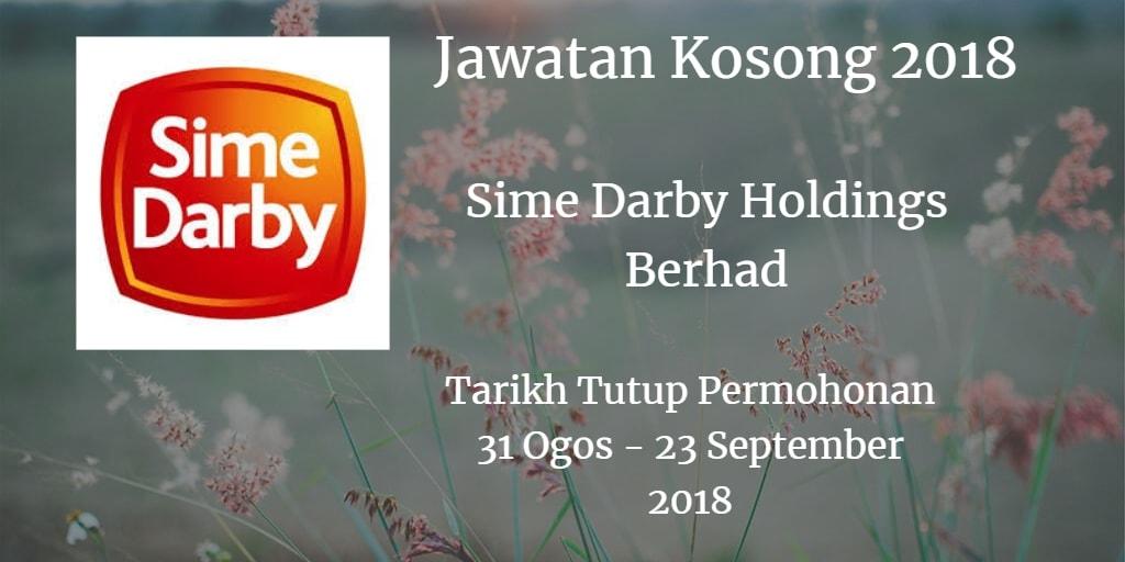Jawatan Kosong Sime Darby Holdings Berhad 31 Ogos - 23 September 2018