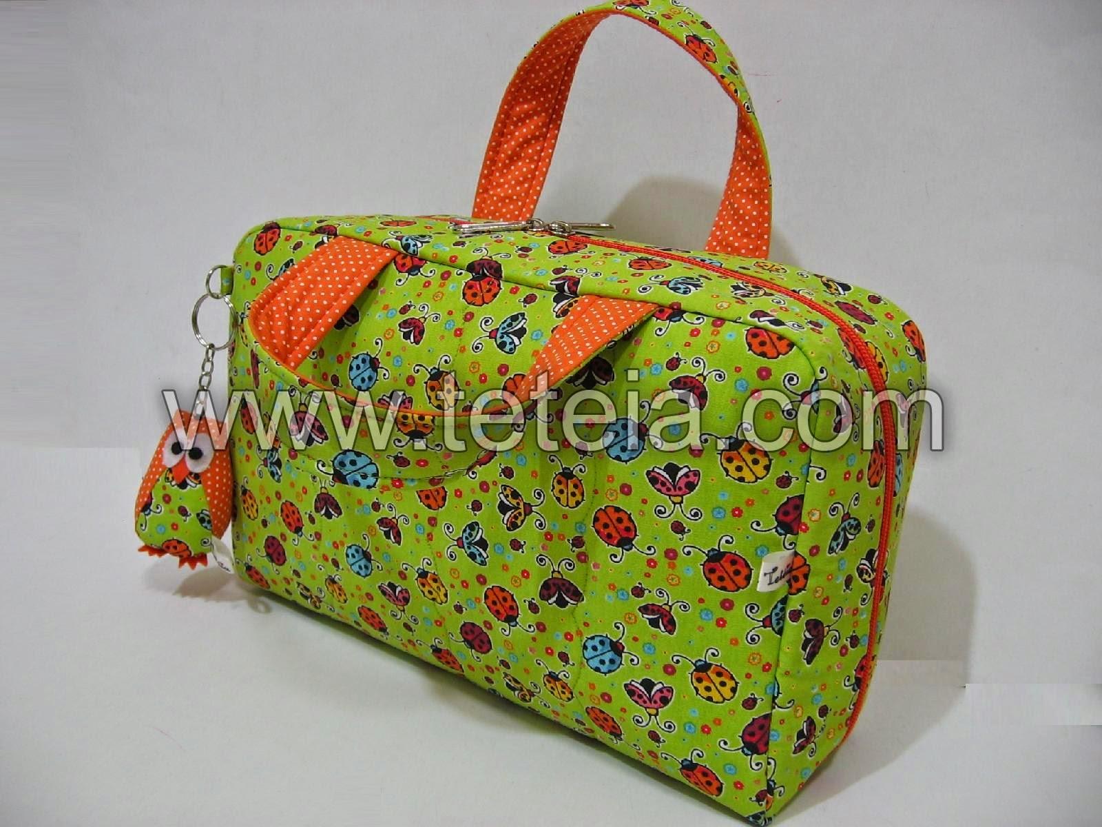0608ff0a8 Tetéia Patchwork: Necessaire/maleta médica grande_joaninhas verde ...