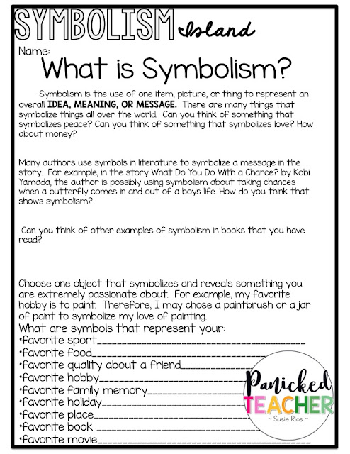 Symbolism Island Projects Panicked Teachers Blog