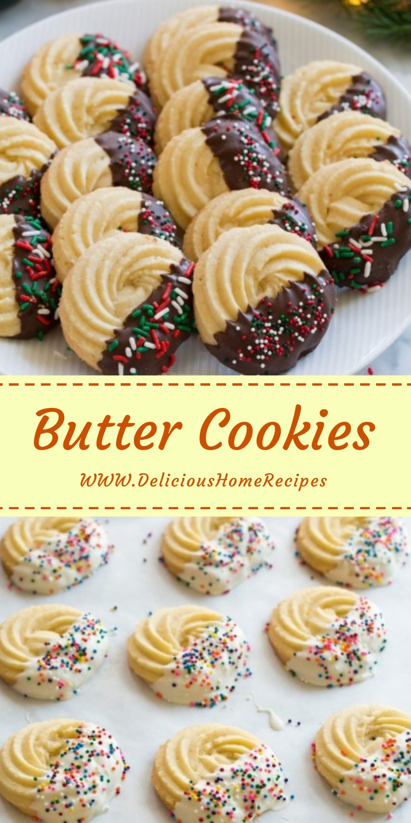 Butter Cookies #christmas #cookies
