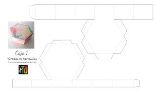 Imprimible gratis de Tutorial de Artesania caja hexagonal