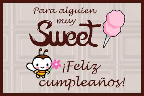 dulce cumpleaños
