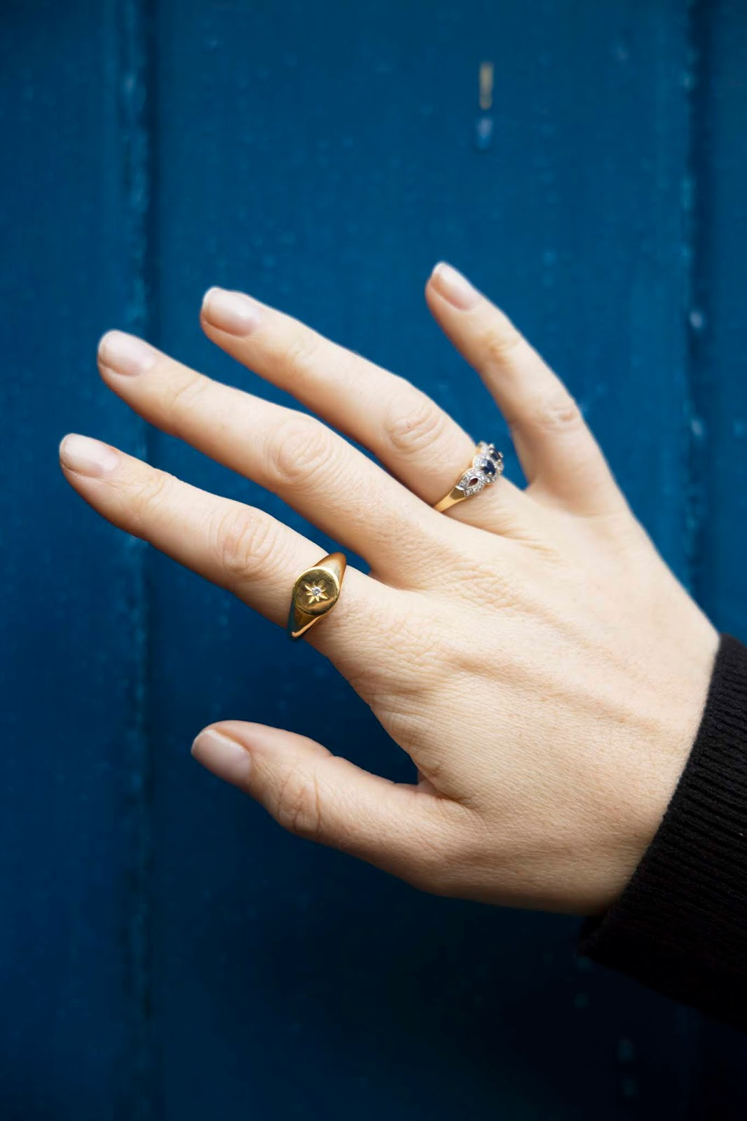 seol + gold signet ring jewellery