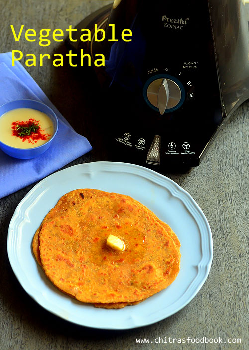 Easy mixed vegetable paratha recipe