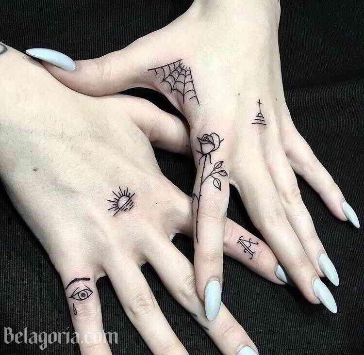 vemos Tatuajes sencillos en las manos