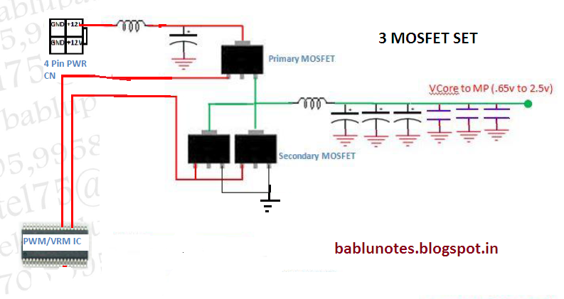 Bablu Notes: VRM Section CIrcuit Diagram and its problem ... on