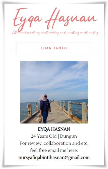 Sahabat blogger pilihan Starlavenderluna : Eyqa Hasnan