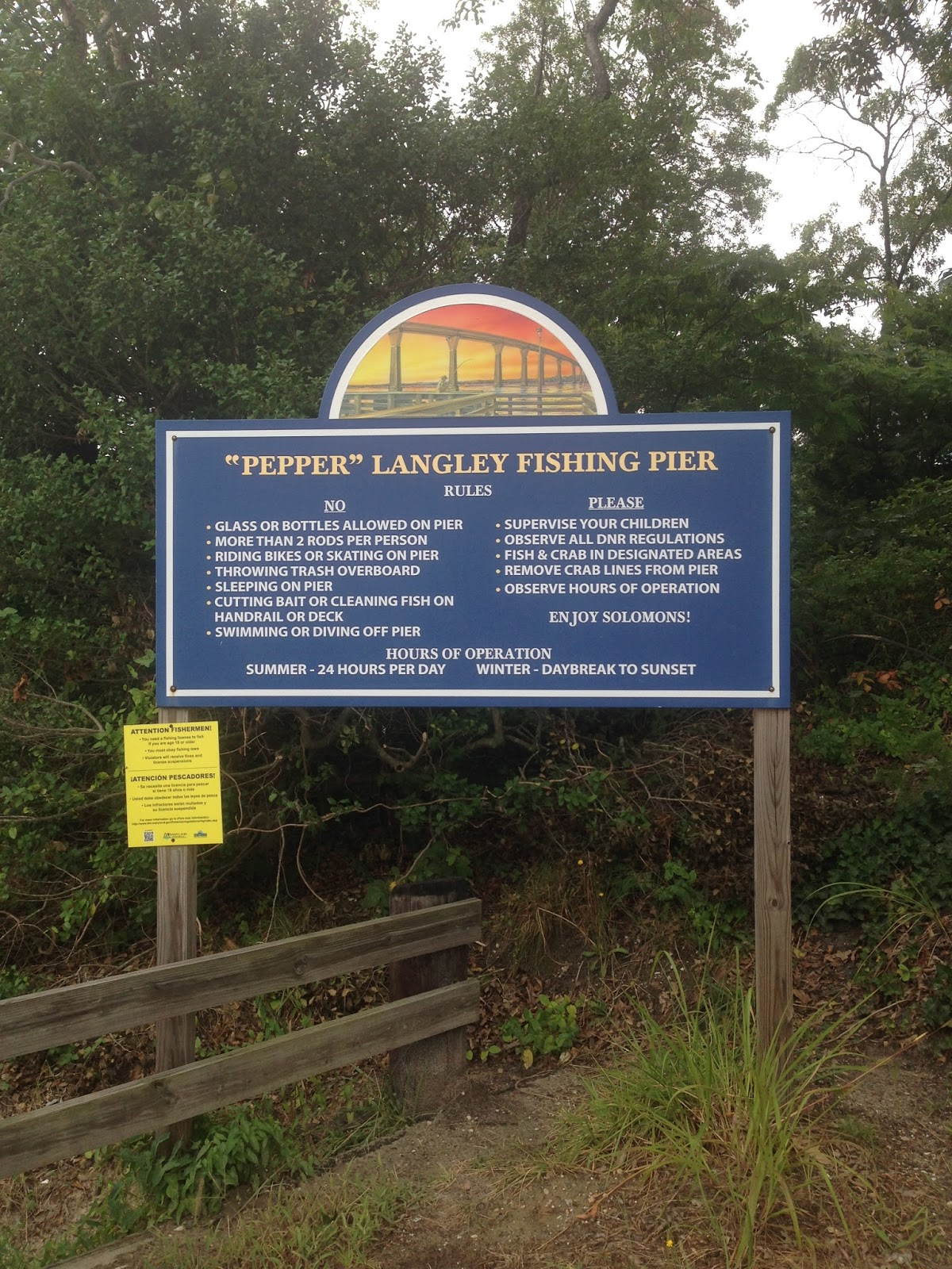 Mama's in Town : Chesapeake Bay Fishing Piers, MD