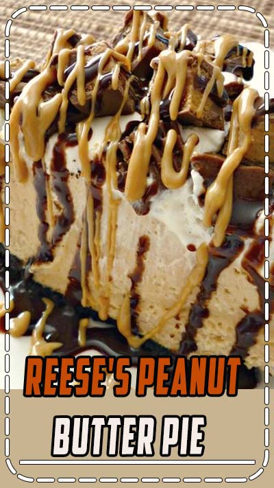With a delicious no-bake peanut butter cheesecake filling and topped with Reese's Miniatures