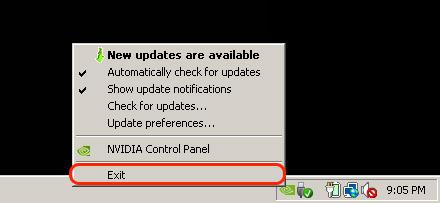 إيقاف تشغيل تطبيق GeForce Experience