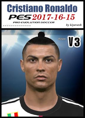 PES 17 Cristiano Ronaldo Face by kiyavash