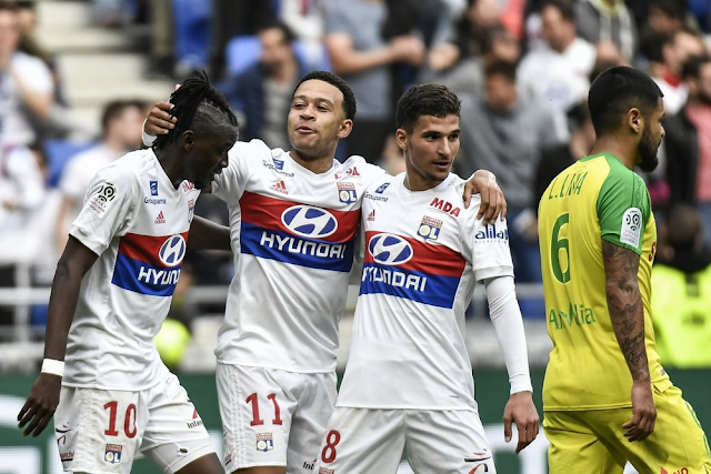 Video Cuplikan Gol Lyon 2-0 Nantes | Ligue 1 France Pekan 35
