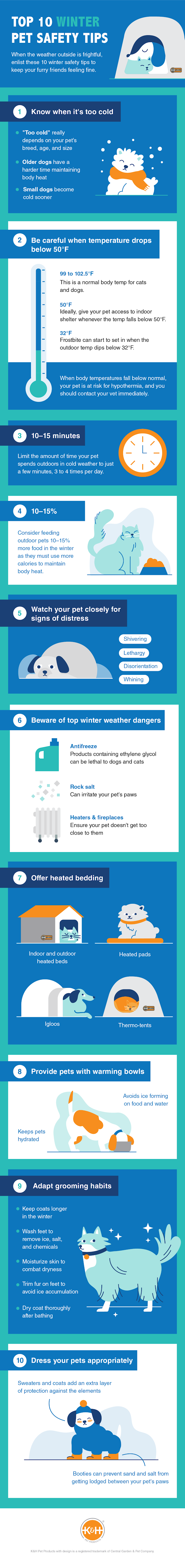 Top 10 Winter Pet Safety Tips #infographic #pets & Animal #Winter #Pet Safety Tips #Pets