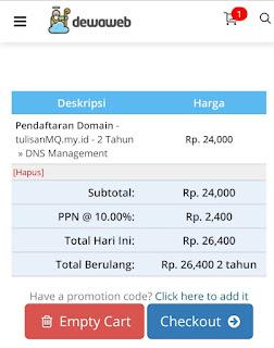 checkout beli domain