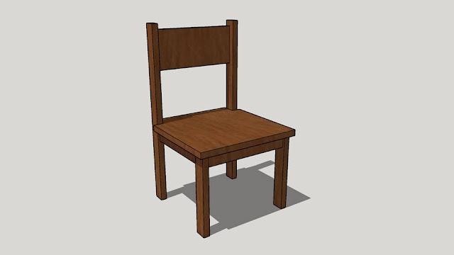 Estudo da Forma – Cadeira de Madeira