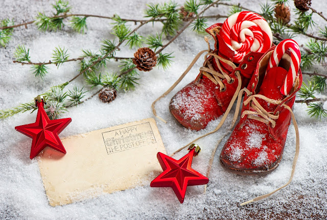 merry christmas Magic shoes wallpaper hd