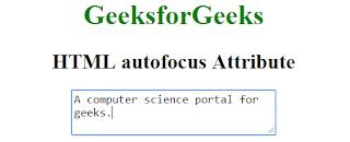 penggunaan atribut autofocus pada html