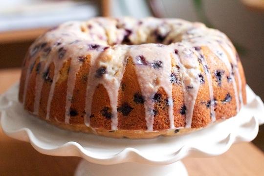 Hey, Lady Grey: Wild Blueberry Tea Cake with Lemon Glaze