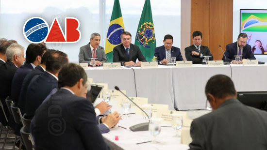 oab pedir video integra reuniao ministerial