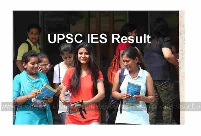UPSC IES Result