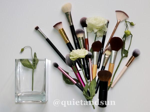 Moje pędzle do podkładu, korektora, pudru, różu, rozświetlacza i bronzera. Pędzle do makijażu #2